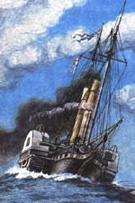 Paddle steam-frigate Taman� 1849