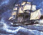 The first Russian screw frigate Archimedes of 1848