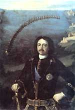 Peter the First, the commander of the four United Fleets in 1716