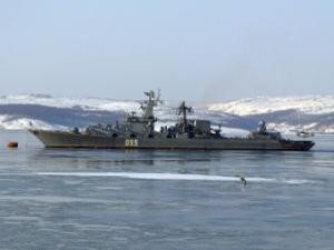 Missile cruiser Marshal Ustinov moves to Pacific Fleet