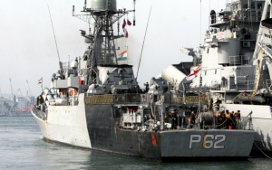 Gale hindered Indian warships to leave Vladivostok