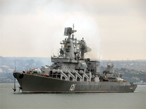 Russia ended large navy exercises in the Mediterranean Sea