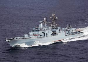 Destroyer Vice Admiral Kulakov Escorts Fourth Convoys