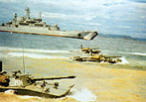 Troops landing from medium landing craft (project 775)