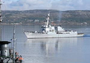 US Destroyer, Norwegian Frigate Left Severomorsk
