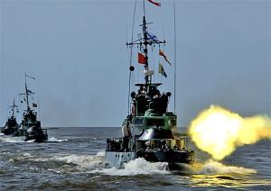 Caspian Flotilla Ships Finish Exercise
