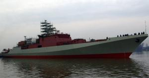 Yantar shipyard started mooring trials of the first Indian frigate