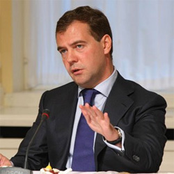 "Medvedev called politicians to be ""careful in rhetoric"" on Libya"
