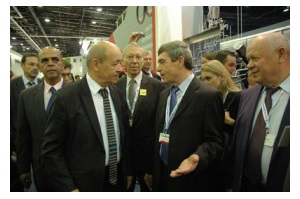 French Defense Minister Visited Russian Booth at Euronaval-2012
