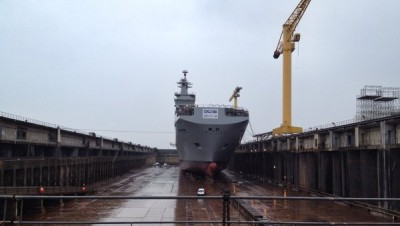 France Floats Out First Russian Mistral Warship