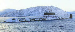 Guided-missile submarine cruiser Typhoon (project 941)