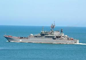 Landing Ship Caesar Kunikov Returned to Sevastopol