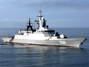 Russia launched the first series-built corvette