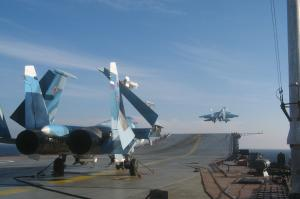 Russian Navy Carrier Group Held Exercise in Mediterranean