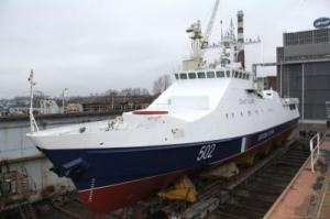 Patrol Ship Zhemchug to Set Afloat in April