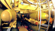 Torpedo bay, submarine (project 877)