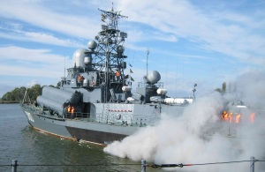 Damage control drill was held in Baltiysk