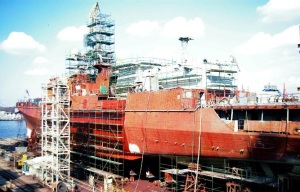 Yantar shipyard prepared third Indian frigate for launch