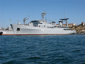 Ukrainian C2 ship Slavutich called at Romanian port Constanta