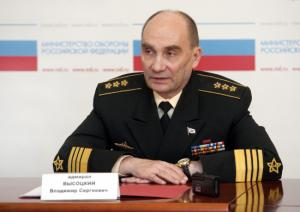 Russian Navy Commander Met with Media