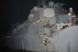 US Navy's Destroyer Collided with Japanese Tanker
