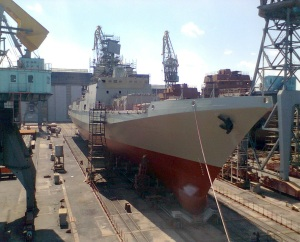 Yantar shipyard prepared Indian frigate for launching