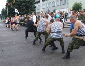 First tug-of-war cup was held at Baltic Fleet