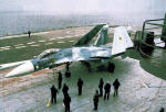 SU-33 fighter, deck of aircraft-carrying cruiser (project 1143.5)
