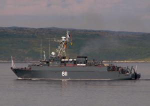 Minesweeper Vladimir Gumanenko Searches Mines in Gulf of Ob