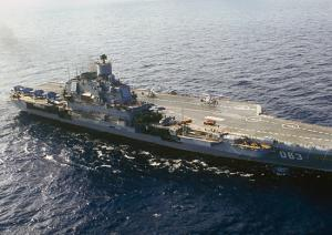 Moscow Schoolchildren Visit Aircraft Carrier Admiral Kuznetsov