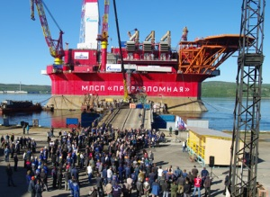 Second phase of Prirazlomnaya oil platform construction is over