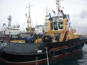 Newest harbor tug was commissioned into Black Sea Fleet