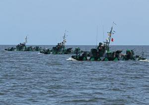Caspian Flotilla Ships Return From Center-2011 Exercise