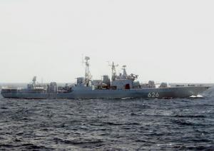 Russian Destroyer Escorts Fifth Convoy Thru Gulf of Aden