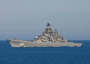 Missile Cruiser Petr Veliky Passed Kara Strait