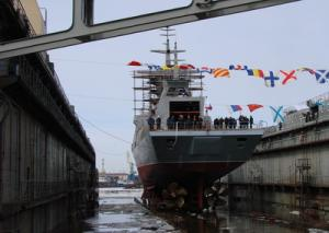 Corvette Boiky was launched in St. Petersburg