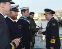 Russian Navy Commander Finished His Visit to the UK