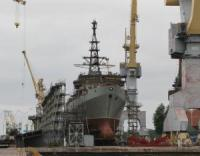 New Naval Communication Ship Floated Out in St. Petersburg