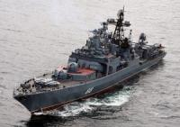 Large ASW ships Severomorsk escorts the next convoy in the Gulf of Aden