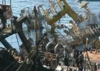 Commercial Companies Lift Sunken Wrecks off Kamchatka